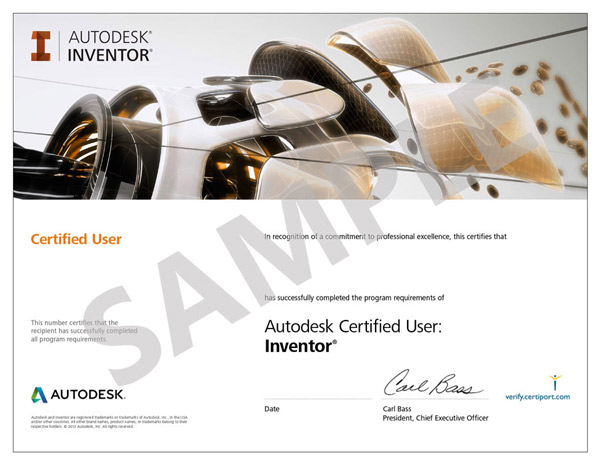 Example of Autodesk Ceritiface